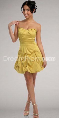 Cheap Designer A-line Strapless Mini/Short Prom/Cocktail Dresses