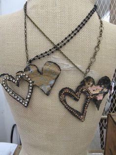 cute metal hearts