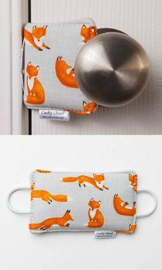 Great Idea, no more slamming doors! Cute fox design cushy closer door cushion #ad #Etsy #fox