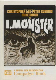I Monster Souvenir Film Brochure Chris Lee British Horror Movie 1971 Cinema Souvenir Film, Chris Lee, Stephen Lawrence, British Lions, Peter Cushing, Horror Films, Hyde, Horror Movies