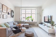 30 Marvelous Scandinavian Living Room Design And Decor Ideas - - Scandinavian Living, Room Design, Sideboards Living Room, Living Dining Room, Living Room Scandinavian, Apartment Decor, Living Room Inspiration, Interior Design, Home And Living