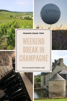 Weekend Break in the Champagne Region - Piccolo Explorer Paris France Travel, Paris Travel Guide, Europe Travel Tips, Travel Abroad, Travel Goals, France Destinations, Amazing Destinations, Travel Destinations, Cool Places To Visit