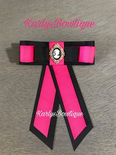 Valentines Collection Pink and Black Birthday Pins, Bowties, Corsages, Girls Accessories, Ribbon Bows, Refashion, Nice, Stylish, Trending Outfits