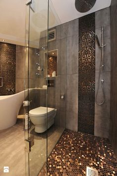 Ciemna strona łazienki - wersja tylko dla odważnych? - Łazienka - zdjęcie od MartaWieclawDesign