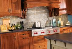 Love this mission style kitchen.