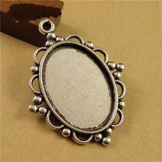 10pcs Antique Silver Filigree Cameo Cabochon Base Setting Pendant Tray 18*25mm Jewelry Blanks Base DIY Findings #Affiliate