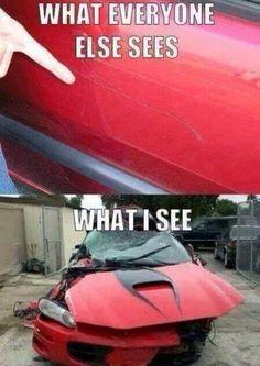 A scratch on my car…