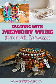 Memory wire is a great material to use for many jewellery making projects. Take a look at these memory wire based handmade creations to inspire you!