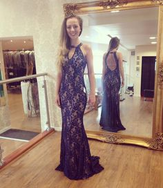 Jovani lace dress at The Dress Studio