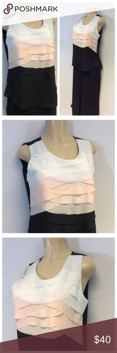 """STYLE & CO RUFFLE EVENING TOP STYLE & CO RUFFLE MULTICOLOR EVENING TOP Size PL. 100% polyester, machine wash. Approximate measurements are 20 1/2"""" bust laying flat, 26"""" shoulder to hem, L001. Culottes pictured can be purchased under separate listing. Style & Co Tops"""