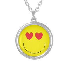 Emoji Necklace is a lot of fun! Sterling silver-plate and UV Resistant and waterproof.