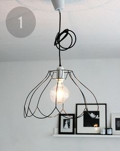 Mini DIY Round Up    Homecrafts and DIY   Pinterest   Turn light     strip the fabric off wire lamp shade