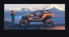 """vehicle inspired by the """"design by footprint"""" of the ubiquitous 1941 Willys. Environment Sketch, Motorbike Design, Car Sketch, Cool Sketches, Transportation Design, Automotive Design, Exotic Cars, Concept Cars, Exterior Design"""