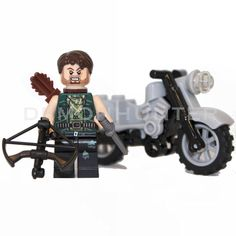 Lego Custom The Walking Dead Daryl Dixon With SIDAN Crossbow BE99 and Motorcycle #LEGO
