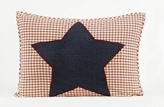 Liberty Patriotic Americana 21x27 Quilted Star Pillow Sham by Victorian Heart Co., Inc., http://www.amazon.com/dp/B0073VFDTC/ref=cm_sw_r_pi_dp_pFJPrb1F6EKT7