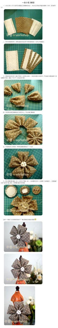 一朵小花(教程) - 堆糖 发现生活_收集美好_分享图片