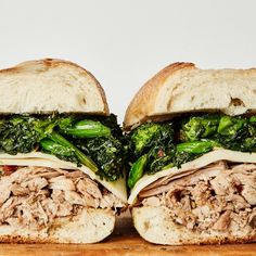 This slow-cooker version of the classic Philly roast pork sandwich is nothing short of perfection: sharp provolone, garlicky broccoli rabe, and lots of jus for dipping. --to try with chicken Slow Cooker Pork Roast, Slow Cooker Recipes, Cooking Recipes, Pork Recipes, Roast Brisket, Crockpot Recipes, Game Recipes, Dinner Recipes, Paleo Meals