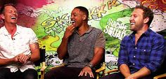 Jai Courtney Will Smith Joel Kinnaman Suicide Squad Interview