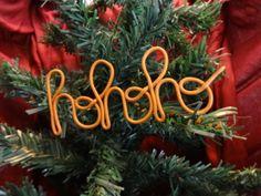 """Mot """"hohoho"""" en fimo couleur or, décoration de sapin by Fée Plaisir"""