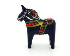 """Blue Dala Horse - 4"""""""