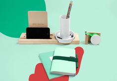 ideaco penholder, papelote an paperways notebooks