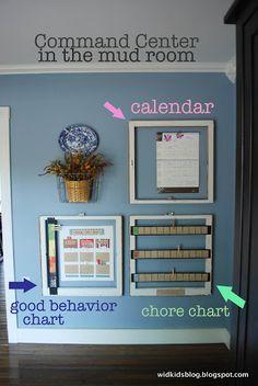 Chore chart, behavior chart, calendar idea for window frames