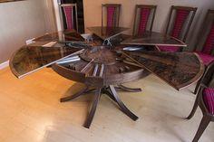 Circular expanding dining table internal workings
