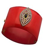 Red Marquise Cuff