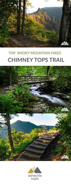 Hike to expansive views of the Chimney Tops pinnacle and Mount LeConte on a spectacular adventure in Great Smoky Mountains National Park. #hiking #trailrunning #tn #tennessee #gatlinburg #smokymountains #greatsmokymountainsnationalpark #gsmnp #travel #outdoors #adventure