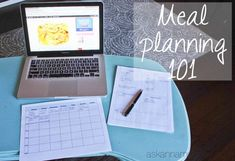 I'm sharing my meal planning method & it's so easy! It's a valuable tool that will save you so much time & money & I've included a couple FREE printables!