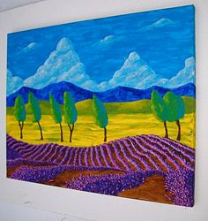 Hey, I found this really awesome Etsy listing at https://www.etsy.com/listing/215816307/lavender-in-provence-original-acrylic
