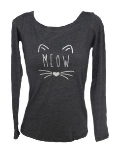 05e1b503 RUSEEN Reflective Apparel - Women's Reflective Long Sleeve Shirt - Meow  Shirt Sleeves, Long Sleeve