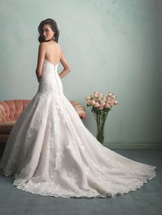 Allure Bridals : Allure Collection : Style 9159 : Available colours : White, Ivory, Champagne/Ivory (back)