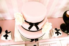 CAKE. | events + design: real parties: pink & black baby shower
