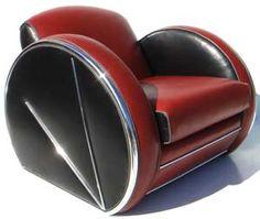 Streamlined art deco chair.