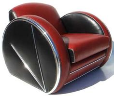 Streamlined art deco chair.