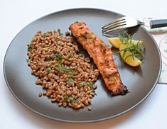 marinated salmon with garlic and ginger