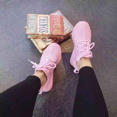 2016 Spring New Pink Yeezy Shoes Casual Sports Sneakers Women Flat Shoes $25USD