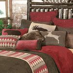 Wilderness Knitted deet and diamond pattern Accent Pillow