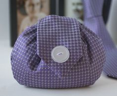 cute purse, made from a neck tie