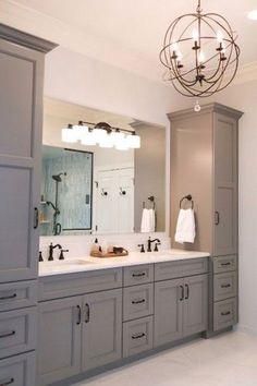53 Farmhouse Rustic Master Bathroom Remodel Ideas