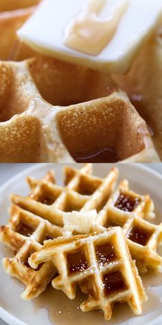 Our families very favorite light and fluffy Belgian Waffles are so simple and delicious that you will never need another waffle recipe! One Waffle Recipe, Waffle Maker Recipes, Belgian Waffle Recipes, Krusteaz Waffle Recipe, Healthy Waffle Recipes, Waffle Recipe From Scratch, Chocolate Chip Waffle Recipe, Bon Appetit, Pancake