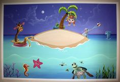 Wall Mural in baby's room 8' x 12'
