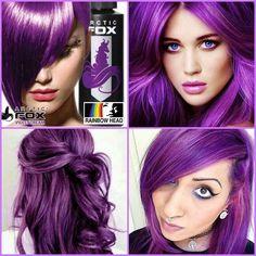 Dyed Hair Purple, Hair Color Purple, Hair Dye Colors, Pastel Hair, Cool Hair Color, Artic Fox Hair, Arctic Fox Hair Dye, Arctic Fox Violet Dream, After School