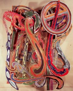 Frank Stella - Katsura mixed media on aluminum, 115 x 92 x Frank Stella, Elements Of Design, Visual Arts, Three Dimensional, Art History, Art Photography, Mixed Media, Inspire, Paintings