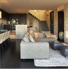 Cucina e soggiorno open space | l i v i n g r o o m | Pinterest ...