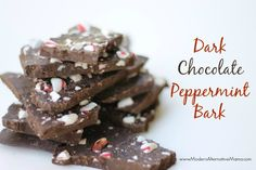 Delicious, simple chocolate peppermint bark -- only 5 ingredients!