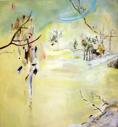 Anna Tuori 2007, Never happened 145x155cm acryl and oil on linen