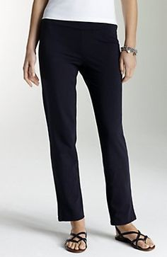pima-stretch slim ankle pants $79