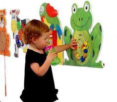 Wall Toys for Waiting Rooms - Find the best wall toys in the universe at SensoryEdge. You'll love how they keep kids engaged while they're in your waiting area.<b> </b>If you run a doctor's practice, gym, mall, salon, restaurant, bank or place that has a waiting area, these commercial grade wall toys offer small foot prints & big fun. on www.sensoryedge.com